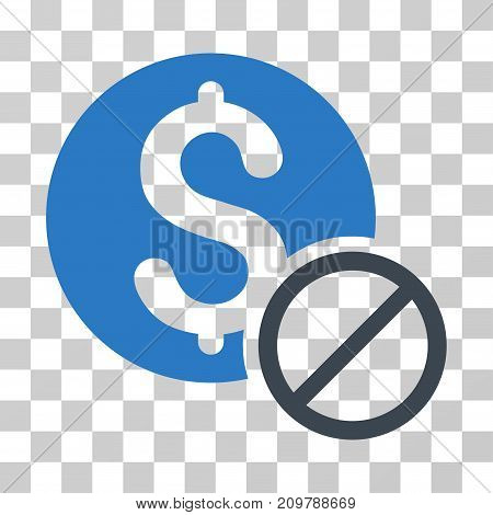 Free Of Charge icon. Vector illustration style is flat iconic bicolor symbol, smooth blue colors, transparent background. Designed for web and software interfaces.
