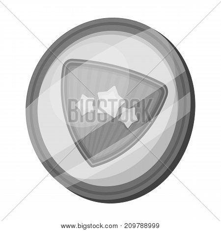 Shield, single icon in monochrome style.Shield, vector symbol stock illustration .