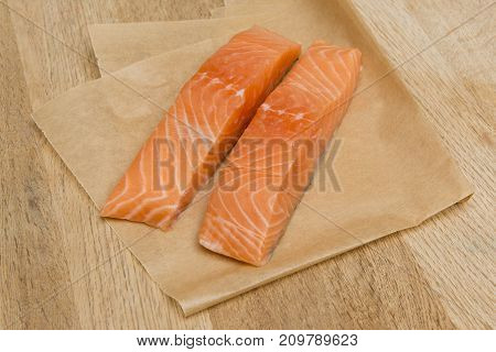 Uncooked Salmon Fillets