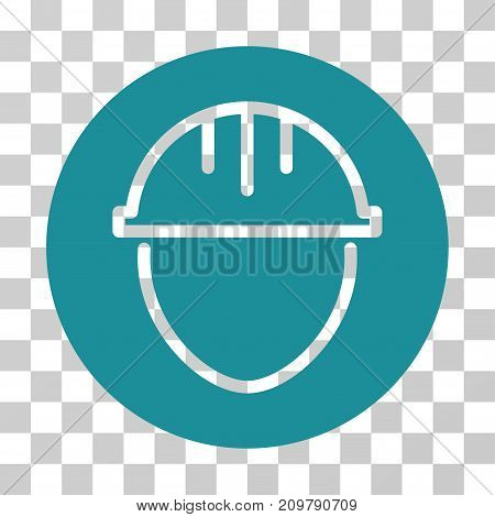 Helmet Circle icon. Vector illustration style is flat iconic symbol, soft blue color, transparent background. Designed for web and software interfaces.