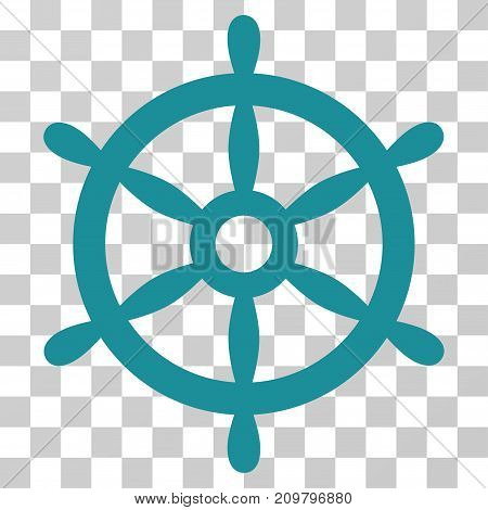 Boat Steering Wheel icon. Vector illustration style is flat iconic symbol, soft blue color, transparent background. Designed for web and software interfaces.