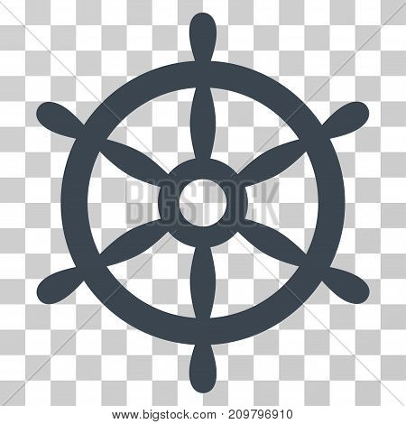 Boat Steering Wheel icon. Vector illustration style is flat iconic symbol, smooth blue color, transparent background. Designed for web and software interfaces.