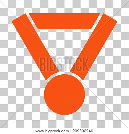 Champion Award icon. Vector illustration style is flat iconic symbol, orange color, transparent background. Designed for web and software interfaces.