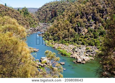 Upper section of the South Esk River in Cataract Gorge - Launceston, Tasmania, Australia