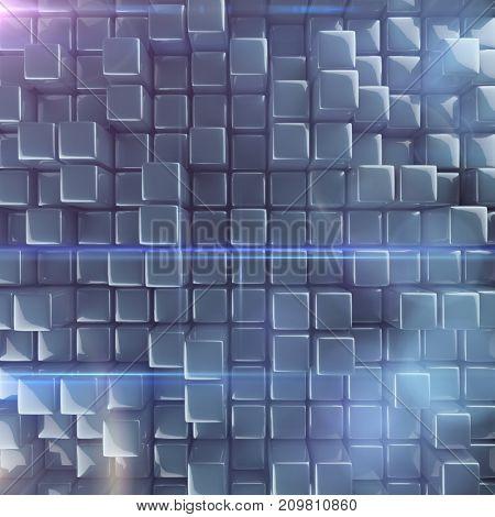Abstract background of cubes. 3d rendering