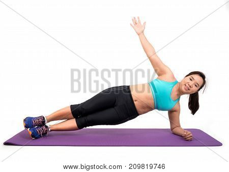 Chubby Woman Doing Fitness
