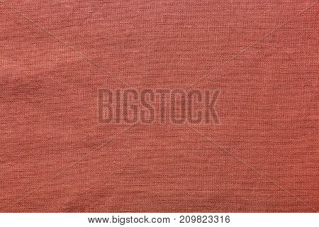 Red burlap background and texture The texture of the burlap closeup