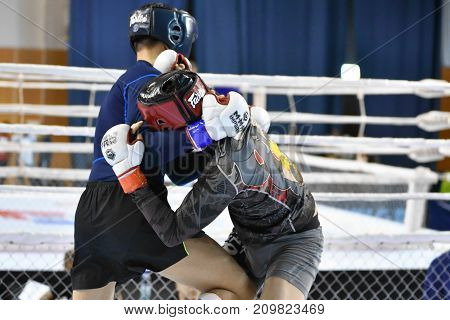 Orenburg, Russia - February 18, 2017 Year: The Fighters Compete In Mixed Martial Arts