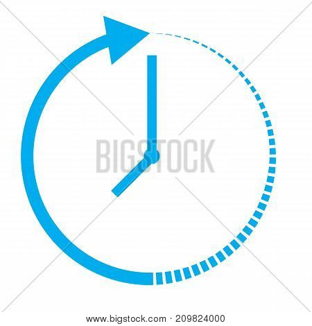 passage of time icon on white background. passage of time sign. flat style.