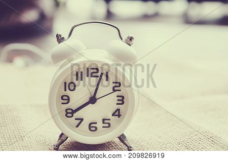 vintage pocket watch time concept at 8 o'clock