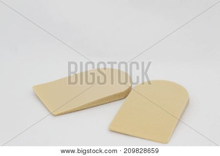 Insoles of foot heel cushion on isolated white background