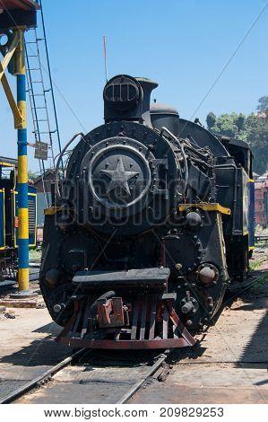 Nilgiri mountain railway. Blue train Unesco heritage Narrow-gauge