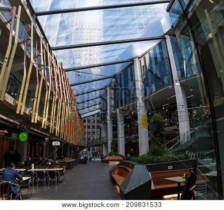 Melbourne, Australia - September 20, 2017: Small Cafes And Resta