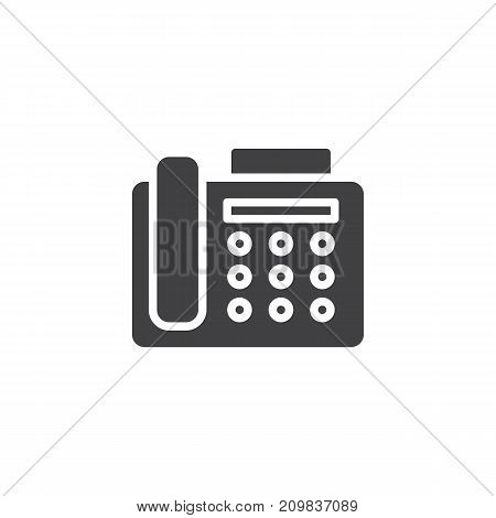 Fax machine icon vector, filled flat sign, solid pictogram isolated on white. Office telephone symbol, logo illustration.