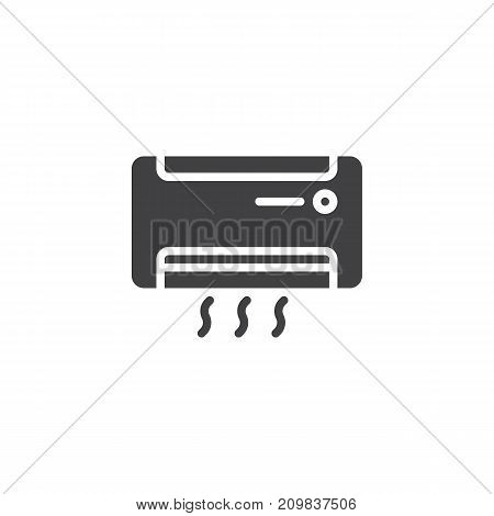 Air conditioner icon vector, filled flat sign, solid pictogram isolated on white. AC unit symbol, logo illustration.