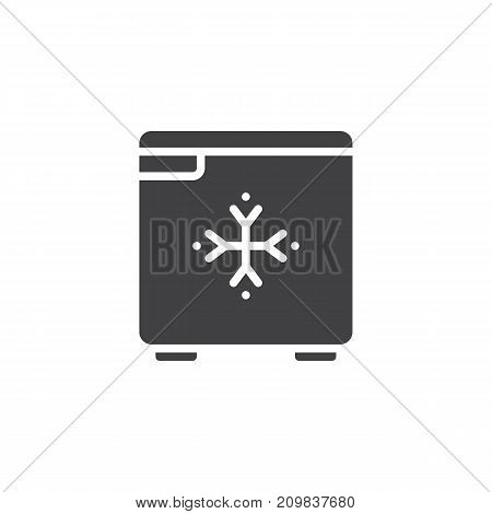 Hotel mini fridge icon vector, filled flat sign, solid pictogram isolated on white. Symbol, logo illustration.