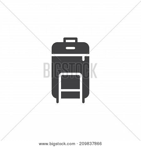 Travel luggage icon vector, filled flat sign, solid pictogram isolated on white. Symbol, logo illustration.