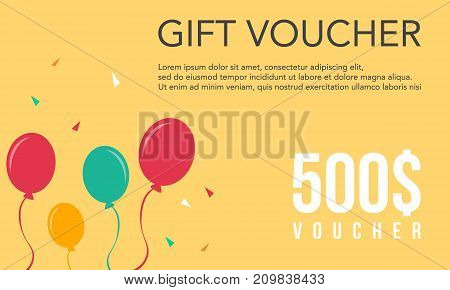Collection stock gift voucher design vector illustration
