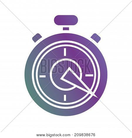 line chronometer object to know the time precision vector illustration
