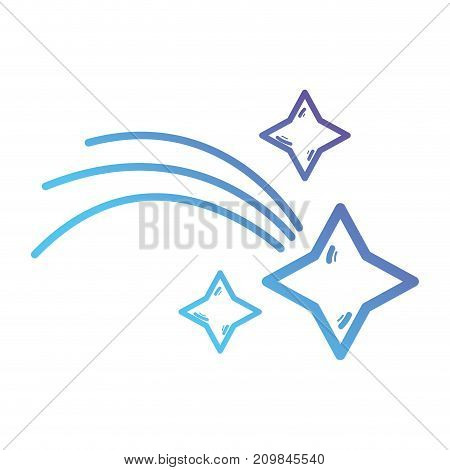 line shiny shotting star in the sky vector illustration
