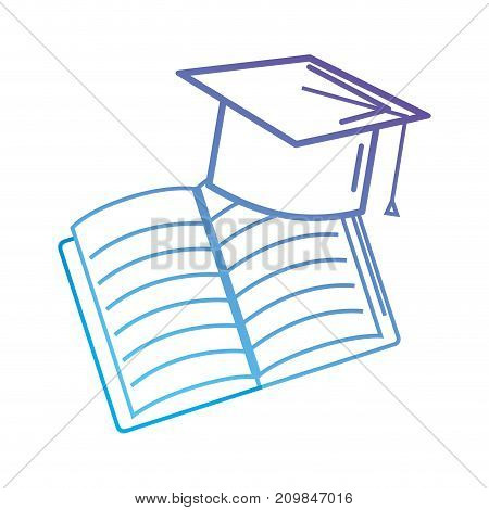 line cap graduation and notebook object vector illustration