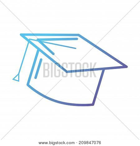 line cap graduation object design vector illustration