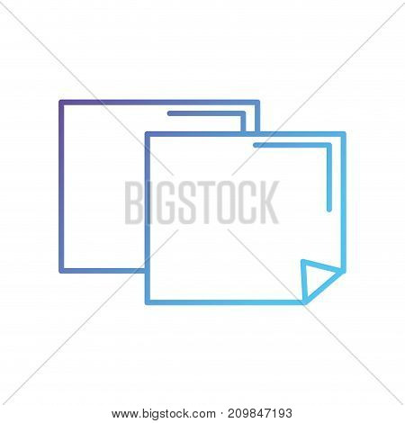 line papers notes education notes vector illustration