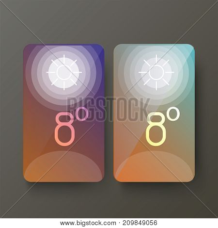 Creative different Weather Widget User Interface layout for Mobile Apps, Web Designs and Responsive Website. vector illustration