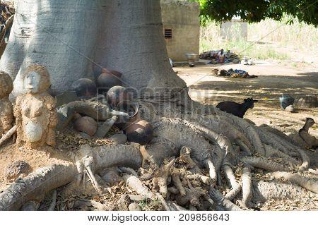 Fetish In Lobi Village, Burkina Faso