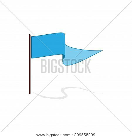 Flag blue sign. Fashion graphic background design. Modern stylish abstract texture. Colorful template for prints textiles wrapping wallpaper banner. Design flat element. Vector illustration