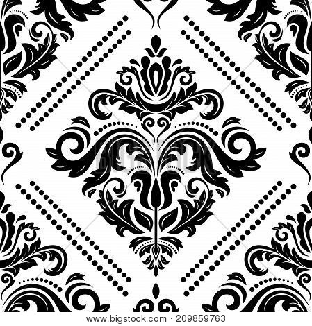 Seamless classic pattern. Traditional orient ornament. Classic vintage black and white background