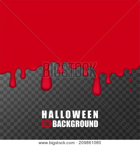 Halloween bloody background. Mockup for design. 3d vector background, pattern, texture