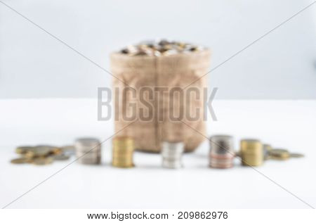 coins saving money /concept coins / isolated