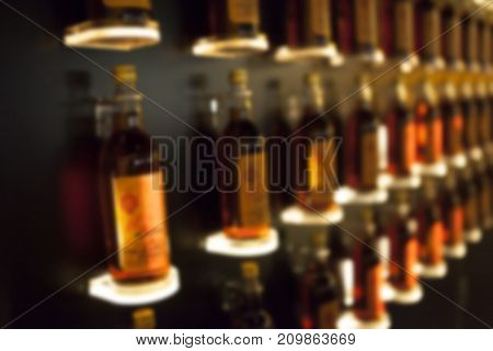 Blur Images Alcoholic drink background, thai whisky.
