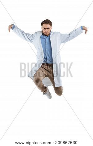 Jumping Male Chemist