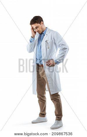 Tired Chemist With Headache