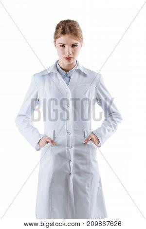 Chemist In White Coat