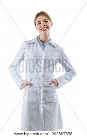 Smiling Female Chemist