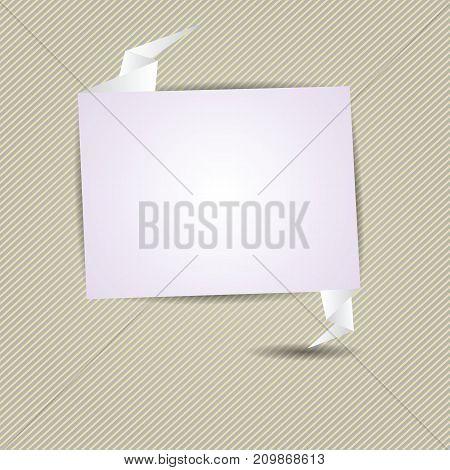Speech bubble icon on striped diagonal background