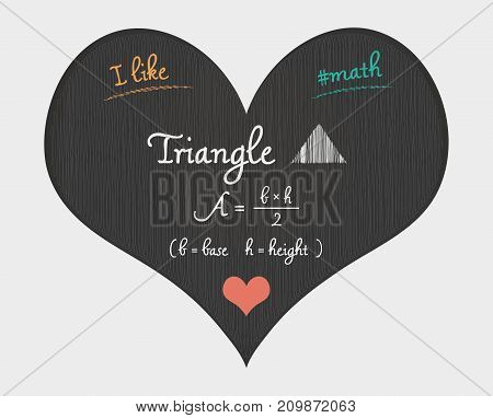 Triangle Area Calculation - I Like Math Illustration