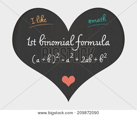 1St Binomial Formula - I Like Math Illustration