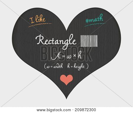 Rectangle Area Calculation - I Like Math Illustration