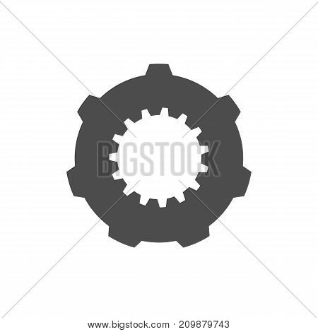 Cogwheel icon illustration isolated on white background.