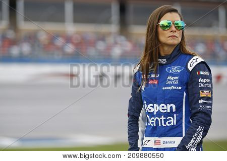 October 14, 2017 - Talladega, Alabama, USA: Danica Patrick (10) hangs out on pit road during qualifiying for the Alabama 500 at Talladega Superspeedway in Talladega, Alabama.