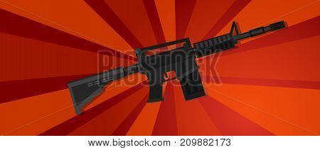 arm assault rifle military war forces revolution red propaganda strong strike protest vector poster