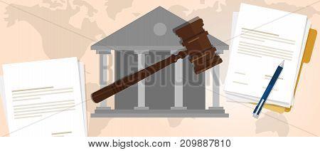 constitutional law verdict case legal gavel wooden hammer crime supreme court auction symbol vector
