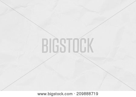 Crumpled white paper texture or paper background for business education and communication concept design.
