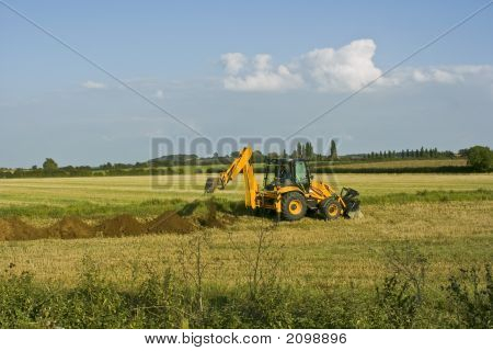Digger In Countryside