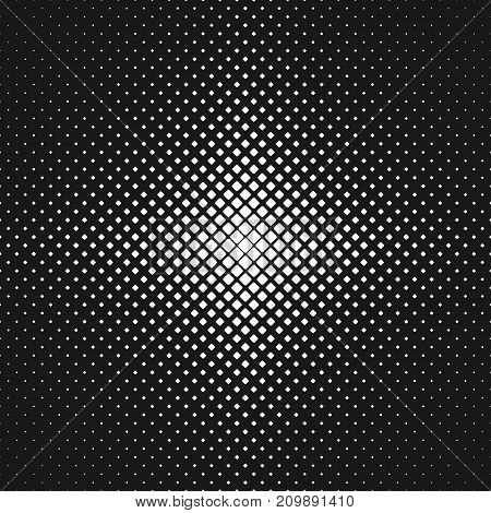 Abstract monochrome rounded square pattern background - vector illustration from diagonal squares in varying sizes