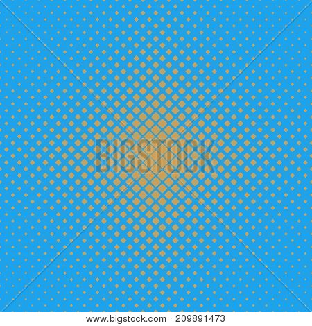 Abstract geometrical halftone rounded square pattern background - vector graphic from diagonal squares in varying sizes